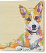 Dog Jerry Wood Print