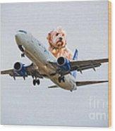Dog Pilot Wood Print