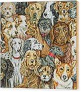 Dog Spread Wood Print by Ditz