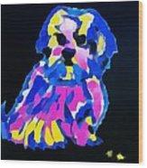 Dog-tibetin Lhasa Apsos Impression Wood Print
