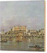 Doges Palace And View Of St. Marks Basin, Venice Oil On Canvas Wood Print