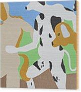 Dogged Wood Print