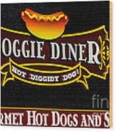 Doggie Diner Wood Print