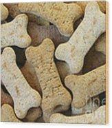 Doggie Feast Wood Print