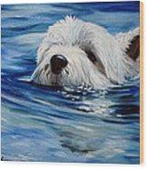 Doggie Paddle Wood Print