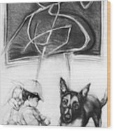Doggy Wood Print
