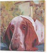 Dog's Portrait No 1 Wood Print