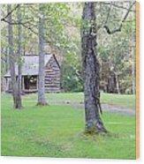 Dogwood Cabin Wood Print