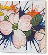 Dogwood Flowers Wood Print by Nora Blansett