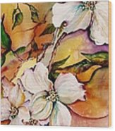 Dogwood In Spring Colors Wood Print