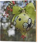Dogwood Majolica Maiolica Ornament Wood Print by Amanda  Sanford