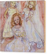 Doll Fancy Wood Print by Susan Hanlon