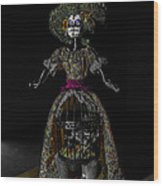 Doll With Dead Bird In New Orleans Wood Print by Louis Maistros