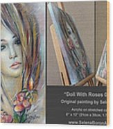 Doll With Roses 010111 Comp Wood Print