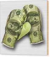 Dollar Gloves-2 Wood Print