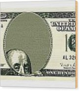 Dollar Peek A Boo Wood Print