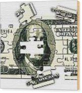 Dollar Puzzle-2 Wood Print