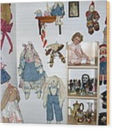 Dolls And Such Wood Print