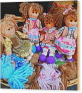 Dolls For Sale 1 Wood Print