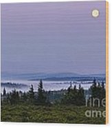 Dolly Sods Moonset Wood Print