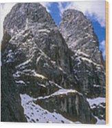 Dolomite Twin Peaks Wood Print