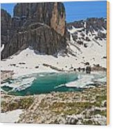 Dolomites - Pisciadu' Peak Wood Print