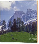 Dolomites Wood Print