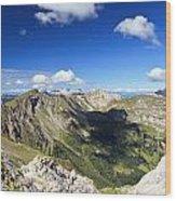 Dolomites Landscape On Summer Wood Print