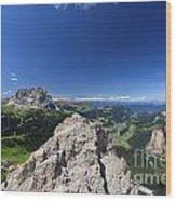 Dolomiti - Alta Val Gardena Wood Print