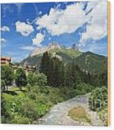 Dolomiti - Avisio Stream Wood Print