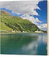 Dolomiti - Fedaia Lake Wood Print