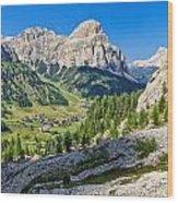 Dolomiti - High Badia Valley Wood Print