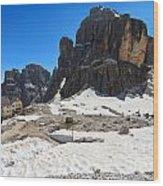 Dolomiti - Pisciadu Peak Wood Print