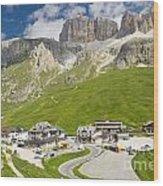 Dolomiti - Pordoi Pass Wood Print