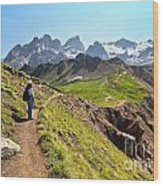 Dolomiti - Trekking In Val Ldi Fassa Wood Print