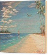Dolphin Bay Wood Print by The Beach  Dreamer