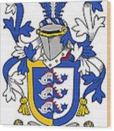 Dolphyn Coat Of Arms Irish Wood Print