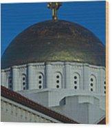 Dome At St Sophia Wood Print
