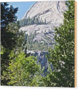 Dome Next To Half Dome Seen From Yosemite Valley-2013 Wood Print