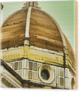 Dome Of Florence Wood Print