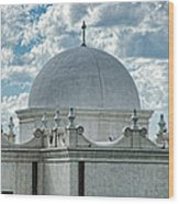 Dome Of San Xavier - Tucson Az Wood Print