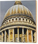 Dome Of St. Paul's Cathedral Wood Print