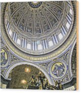 Dome Of St. Peter's Basilica Wood Print