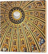 Dome Of St Peter's Basilica Vatican City Italy Wood Print