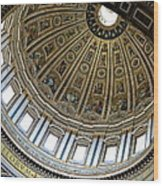 Dome Of St. Peter's Rome Wood Print
