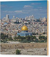 Dome Of The Rock In Jerusalem Wood Print