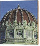 Dome Top Of Carousel House Asbury Park Nj Wood Print