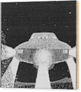 Domed Disc Seen By Frank  Slotta Wood Print