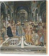 Domenico Di Bartolo 1400-1447. Pope Wood Print