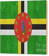 Dominica Flag Wood Print